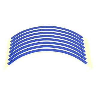 Unique Bargains Self-adhesive Reflective Rim Stripes Wheel Decals Tape Sticker Blue