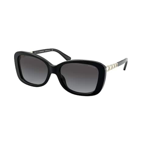 Coach HC8286 50028G 57 Black Woman Rectangle Sunglasses