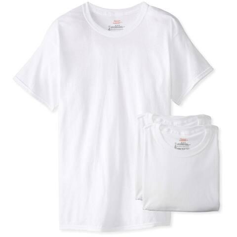 Hanes 2135-M Men's Tagless ComfortSoft Crewneck T-Shirts, White, Medium, 3-Pk