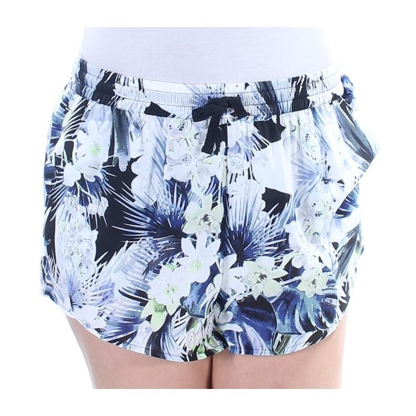 d9c6aee96e43b Shop KENSIE Womens Blue Floral Cropped Short Size: M - Free Shipping On  Orders Over $45 - Overstock.com - 22430026