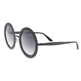 Dolce & Gabbana DG2170B 01/8G Black Round Sunglasses - 51-26-140