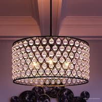 """Luxury Crystal Chandelier, 14""""H x 26""""W, with Moroccan Style, Drum Design, Parisian Bronze Finish"""