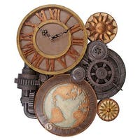 Design Toscano Gears of Time Sculptural Wall Clock: Large