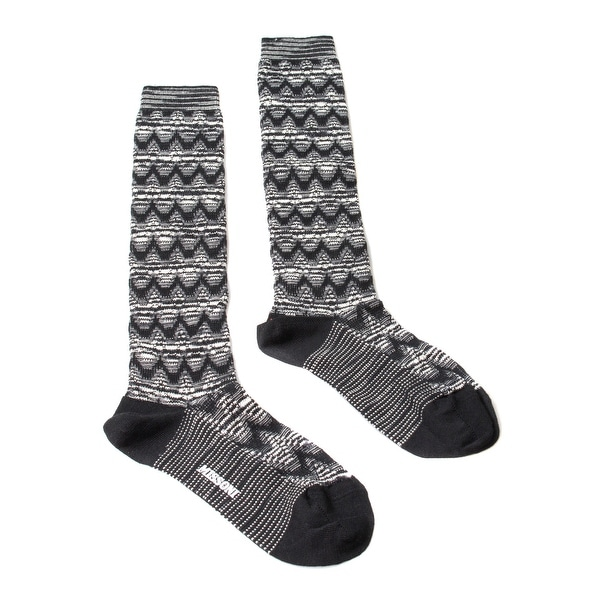 Missoni GM00WMD5223 0006 Black/White Knee Length Socks