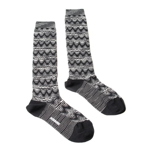 Missoni GM00WMD5223 0006 Black/White Knee Length Socks - M