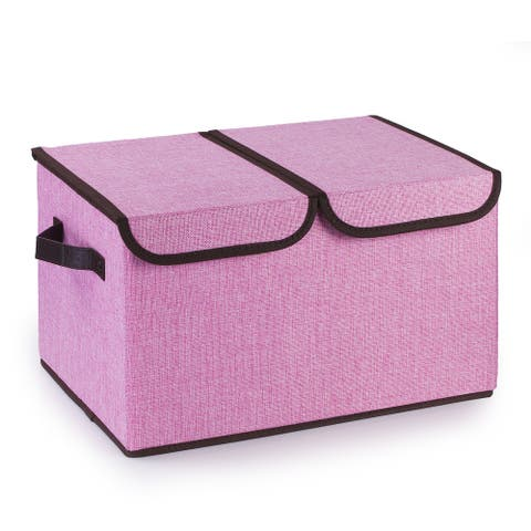 Enova Home Collapsible Storage Bins with Cover Set of 3