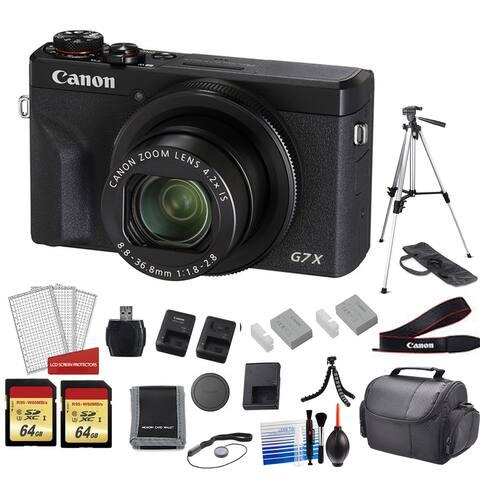 Canon PowerShot G7X Mark III Camera (Black) with 128GB Memory Card