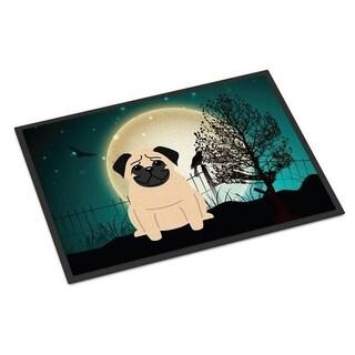Carolines Treasures BB2198JMAT Halloween Scary Pug Fawn Indoor or Outdoor Mat 24 x 0.25 x 36 in.
