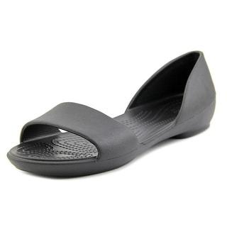 Crocs Lina D'Orsay Women  Open-Toe Synthetic Black Flats