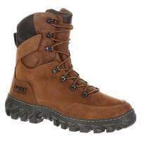 """Rocky Men's 8"""" S2V Jungle Hunter Waterproof Boot RKS0273 Brown Full Grain Leather"""
