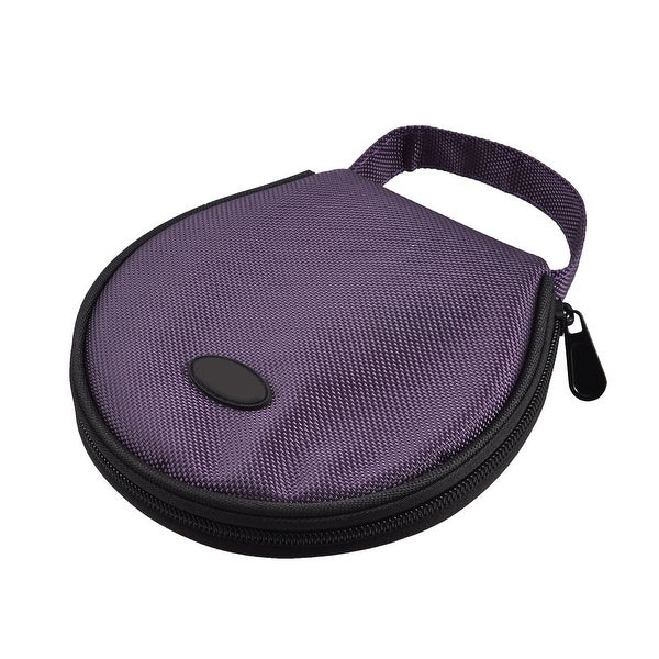 Home Car Zip up DVD CD Discs Holder Pocket Purple Storage Bag