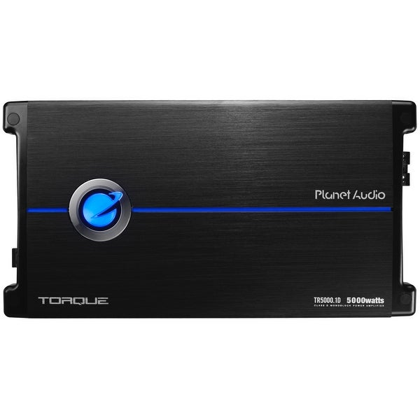 Planet Audio TR5000.1D Torque 5000 Watt, 1 Ohm Stable Class D Monoblock Car Amplifier with Remote Subwoofer Control