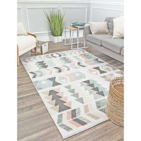 Mika Modern & Contemporary Geometric Area Rug by Rugs America