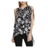 Vince Camuto Womens Dandelion Blouse Chiffon Overlay Floral Print