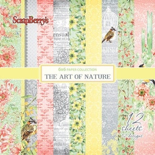 """Scrapberry's The Art Of Nature Paper Pack 6""""X6"""" 12/Pkg-Single-Sided"""