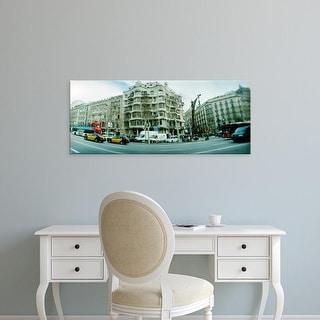 Easy Art Prints Panoramic Images's 'Famous La Pedrera by Antoni Gaudi, Barcelona, Catalonia, Spain' Premium Canvas Art