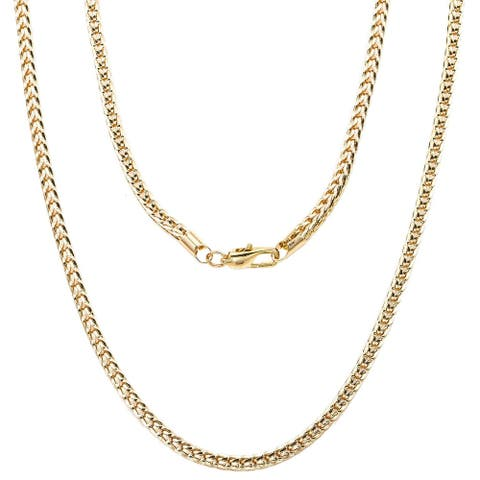 """'FRANCO' Gold or Silver Overlay Chain by Simon Frank Designs(24"""" ,30"""" & 36"""")"""