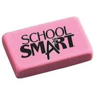 School Smart Small Pink Block Eraser, Pack of 80