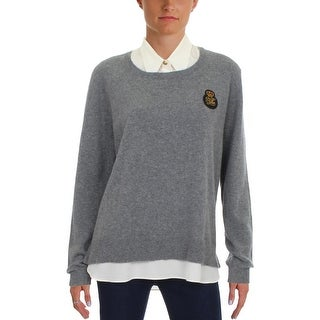 Lauren Ralph Lauren Womens Lali Pullover Sweater Cashmere Layered