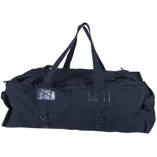 Stansport 1239 Stansport Carrying Case (Duffel) for Travel Essential - Black - Cotton Canvas - Handle, Shoulder Strap