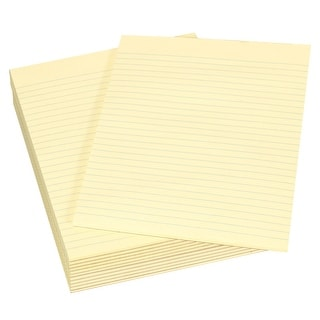 School Smart Legal Pad, 8-1/2 x 11 Inches, Canary, 50 Sheets, Pack of 12