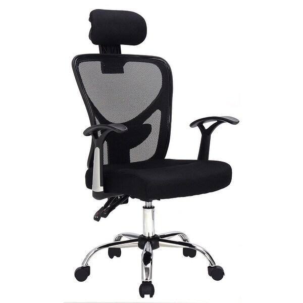 Costway Ergonomic Mesh High Back Office Chair Headrest Black