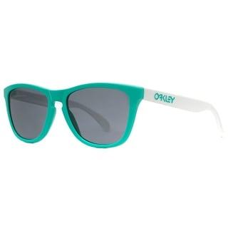 OAKLEY Wayfarer Frogskins OO9013 Unisex 24-417 Seafoam Green/White Gray Sunglasses - 55mm-17mm-133mm