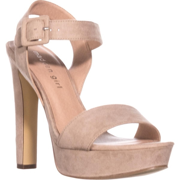 madden girl Rollo Heeled Sandals, Blush