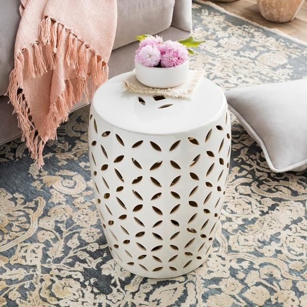 Kelsey Ceramic Indoor/ Outdoor Decorative Stool. Opens flyout.