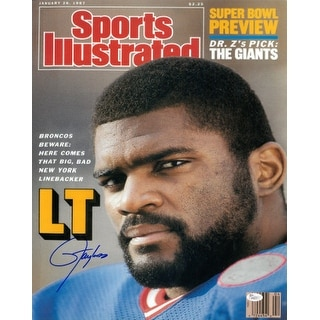 Lawrence Taylor signed New York Giants 16X20 Photo Sports Illustrated Cover 1-26-87- JSA Hologram