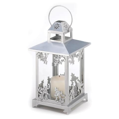 Frosted Vines Candle Lantern
