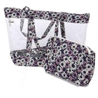 """Girls Navy Floral Print Wallet Shoulder Strap Summer Bag 17 X 5.5 X 13"""" - One size"""