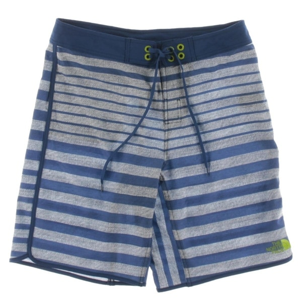 96b642f82 The North Face Mens White Cap Board Shorts Striped Flat Front