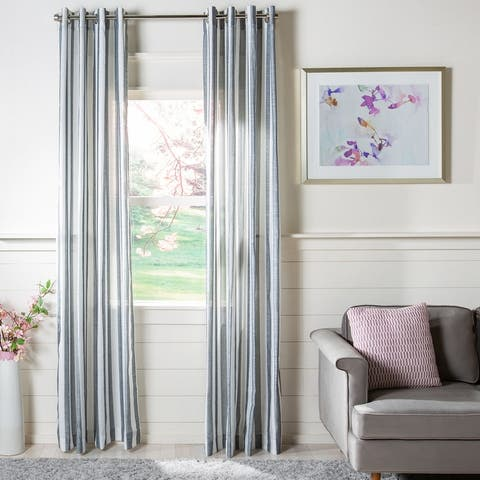 SAFAVIEH Aytan Semi-Sheer Window Curtain Panel