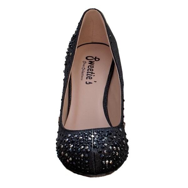 Shop Sweetie's Shoes Womens Black Diana