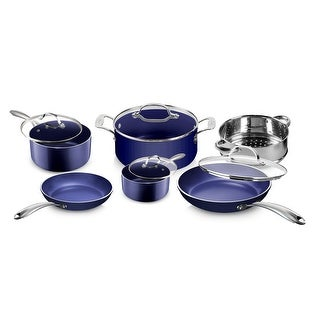 Granitestone Blue Non Stick Scratch Resistant 10pc Cookware Set