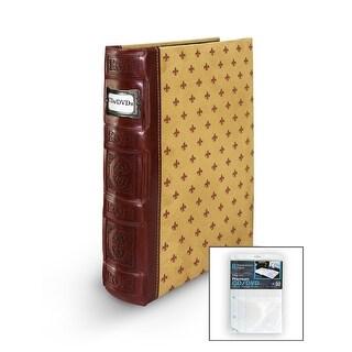 Bellagio-Italia DVD/CD Storage Tuscany Crimson Binder with Insert Sheets
