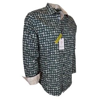 Robert Graham Men's CITY OF MASKS Classic Fit Button Down Sports Shirt