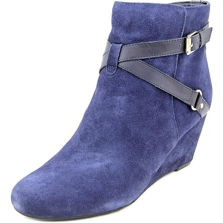 Isaac Mizrahi Kast Round Toe Suede Ankle Boot