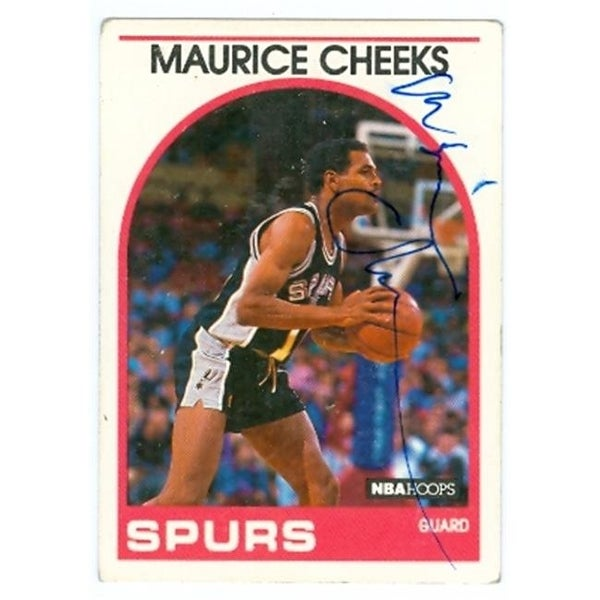 7d5260ce6bf0 Shop Maurice Cheeks Autographed Basketball Card San Antonio Spurs 1989 -  Free Shipping On Orders Over  45 - Overstock - 23736140