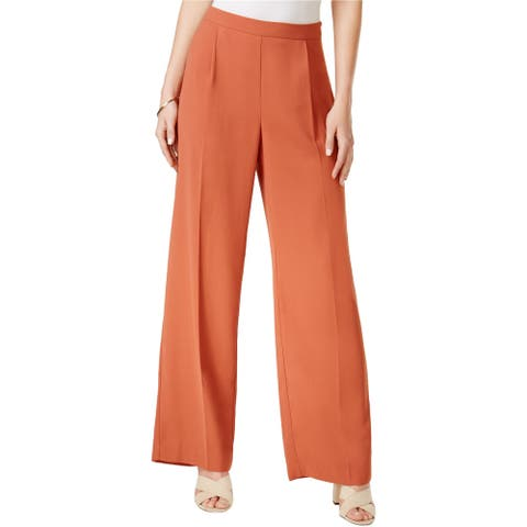 Bar Iii Womens Pleated Wide-Leg Dress Trousers