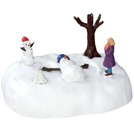 Lemax 54927 Snowman Angel Polyresin Christmas Village