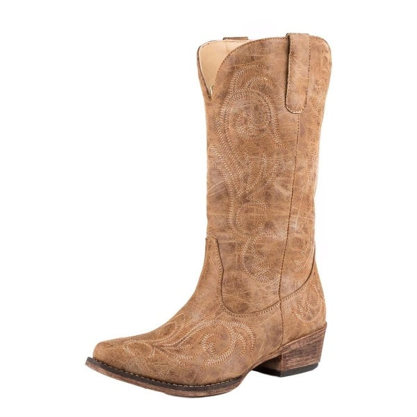 Roper Western Boots Womens Riley Faux Leather Tan