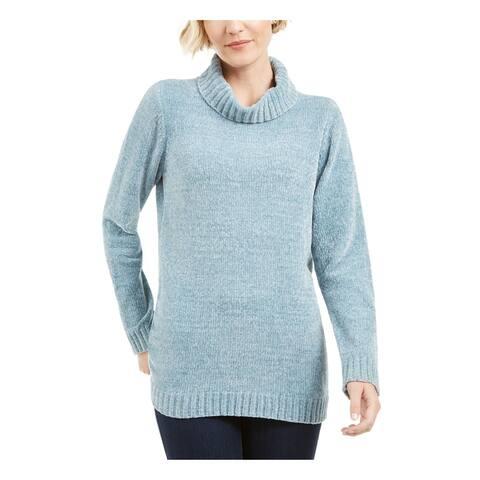 KAREN SCOTT Light Blue Long Sleeve Blouse Sweater S