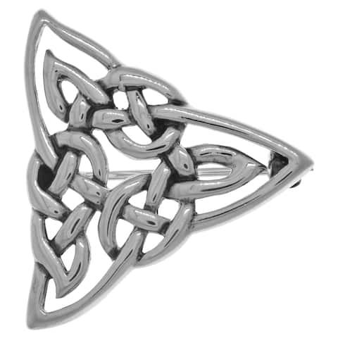 Sterling Silver Celtic Trinity Knot Brooch Pin