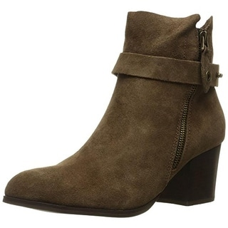 Kensie Womens Seamore Ankle Boots Suede Booties