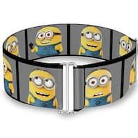 Minions Posing Blocks Gray Cinch Waist Belt   ONE SIZE