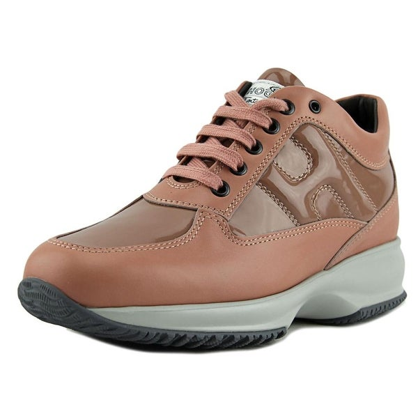 Hogan Interactive Donna Women Leather Tan Fashion Sneakers