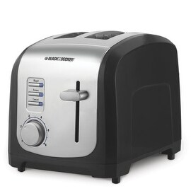 Black & Decker T2030 850-Watt 2-Slice Toaster, Black/Silver