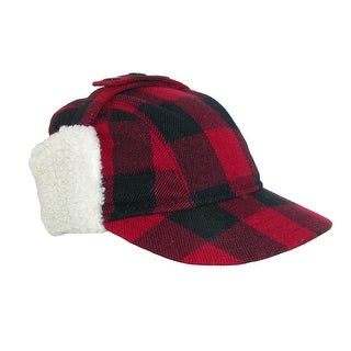 Broner Men's Wool Plaid Outdoor Cap with Sherpa Earflaps